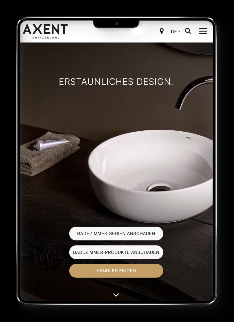 Galeriebild / AXENT Switzerland – Luxury Bathroom Supplies